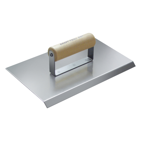 Photo of Kraft 10″ x 6″ 1/2″ R Stainless Steel Chamfer Tool with Wood Handle