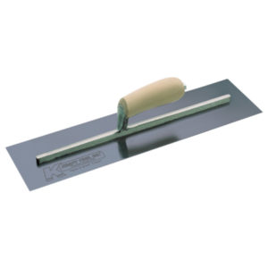 Photo of Kraft 24″ x 5″ Blue Steel Cement Trowel with Camel Back Wood Handle