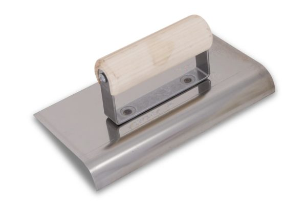 Photo of Marshalltown 6″ x 6″ SS Edger – Straight Ends w/Wood Handle