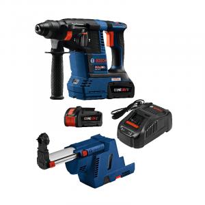 Photo of Bosch GBH18V-26K24GDE 18V SDS-Plus Hammer Drill & Dust Extractor Kit