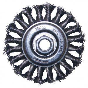 Photo of Flexovit 4″ x 3/8″ x 7/8″ Twisted Wire Wheel