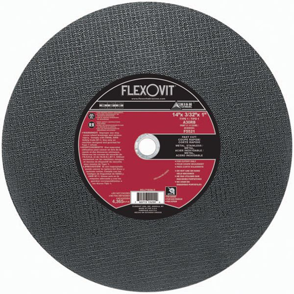 Photo of Flexovit 14″ x 3/32″ x 1″ Chopsaw Cut-Off Wheel