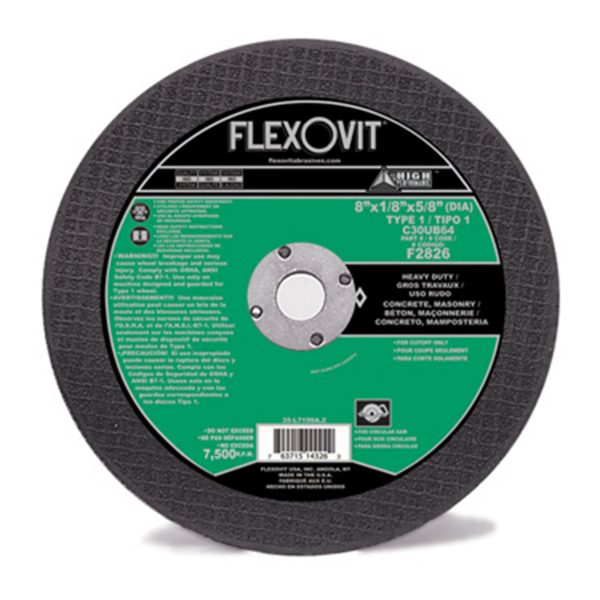 Photo of Flexovit 8″ x 1/8″ x 5/8″ Circular Saw Cut-Off Wheel