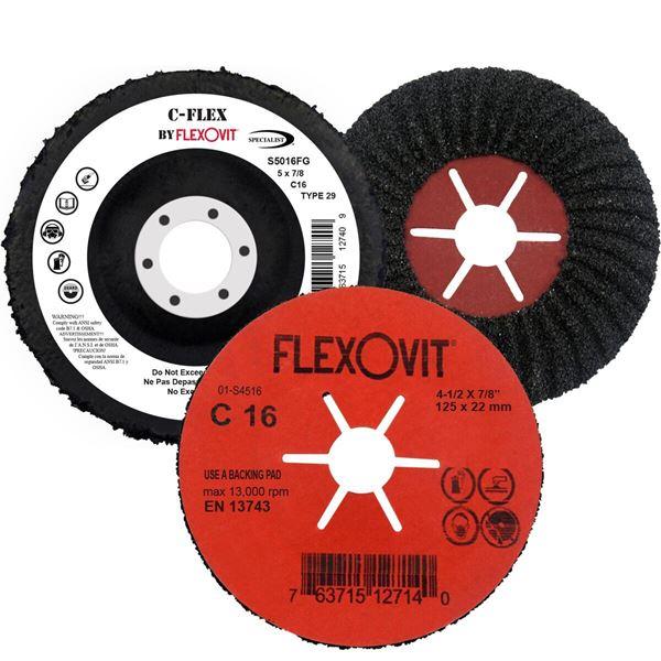 Photo of Flexovit 7″ x 7/8″ C-16 Semi-Flexible Masonry Disc