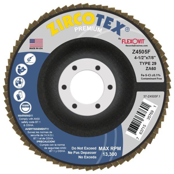 Photo of Flexovit 4-1/2″ x 7/8″ 60-Grit Flap Disc