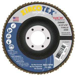 Photo of Flexovit 4-1/2″ x 7/8″ 80-Grit Flap Disc
