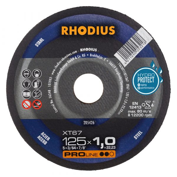 Photo of Rhodius 5″ x 1-/16″ x 7/8″ XT67 Cut-Off Wheel