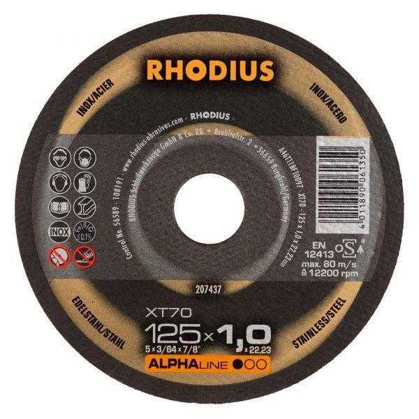 Photo of Rhodius 5″ x 1-/16″ x 7/8″ XT70 Cut-Off Wheel