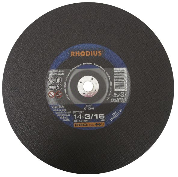 Photo of Rhodius 12″ x 1/8″ x 20mm FT30 Gas Saw Wheel