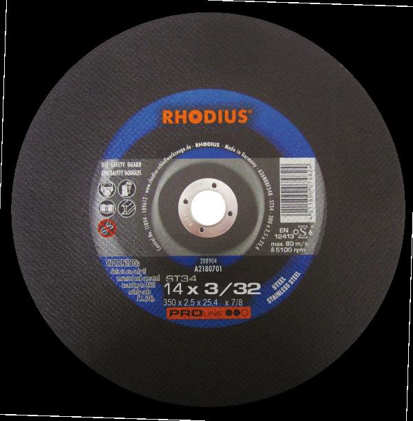 Photo of Rhodius 14″ x 3/32″ x 1″ ST34 Chopsaw Wheel
