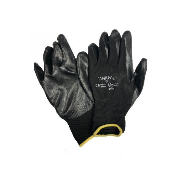 Photo of Black Nitrile Gloves