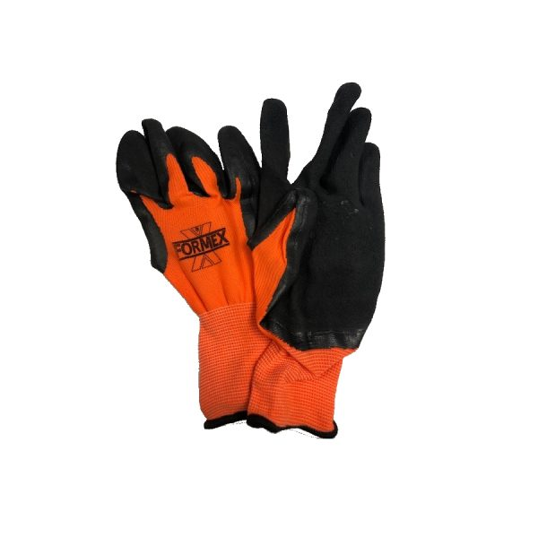 Photo of FORMEX Hi-Viz Orange Foam Nitrile Gloves