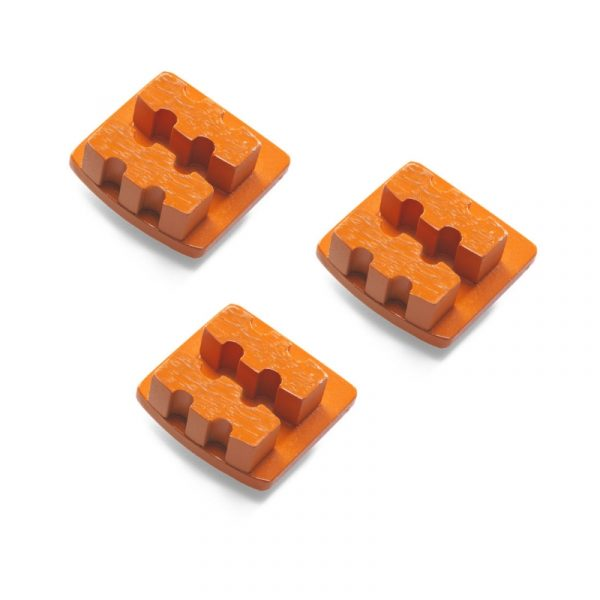 Photo of Husqvarna Redi Lock® 20-Grit Double Segments – Orange (3-Pack)