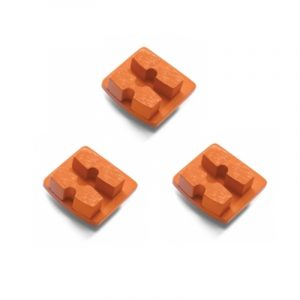 Photo of Husqvarna Redi Lock® 30-Grit Double Segments – Orange (3-Pack)