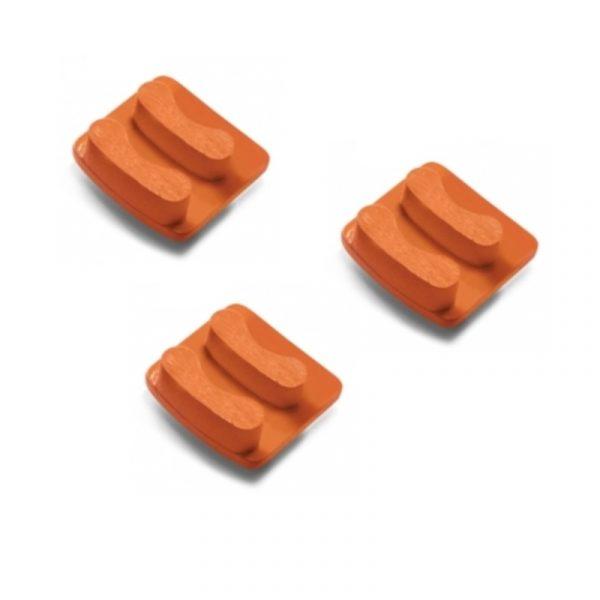 Photo of Husqvarna Redi Lock® 50-Grit Double Segments – Orange (3-Pack)
