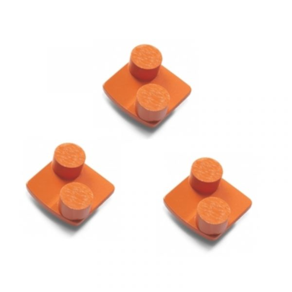 Photo of Husqvarna Redi Lock® 100-Grit Double Segments – Orange (3-Pack)