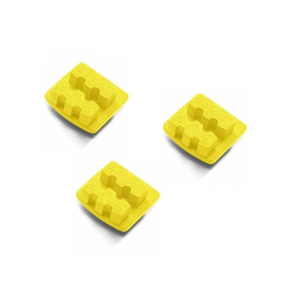 Photo of Husqvarna Redi Lock® 20-Grit Double Segments – Yellow (3-Pack)