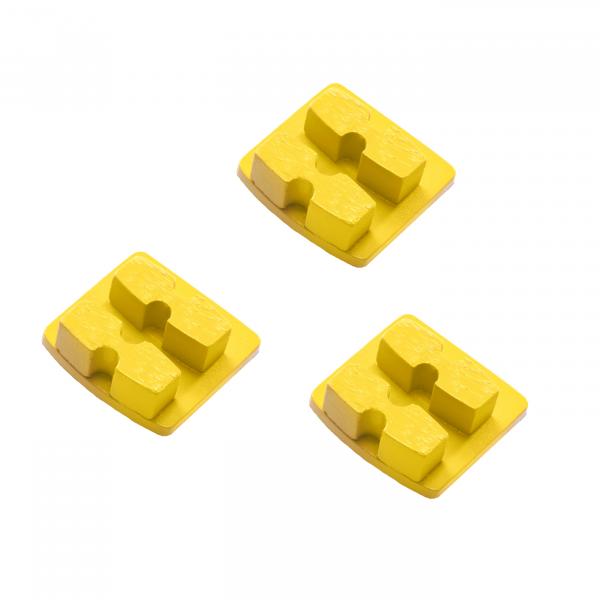 Photo of Husqvarna Redi Lock® 30-Grit Double Segments – Yellow (3-Pack)