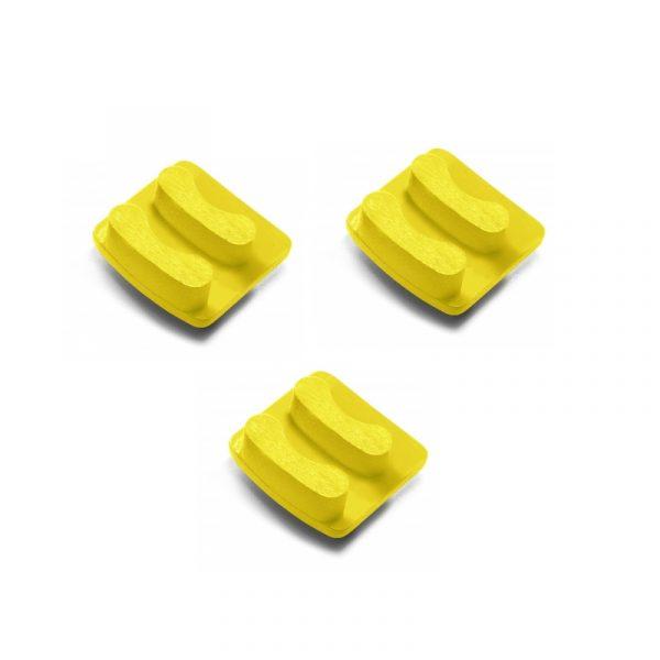 Photo of Husqvarna Redi Lock® 50-Grit Double Segments – Yellow (3-Pack)