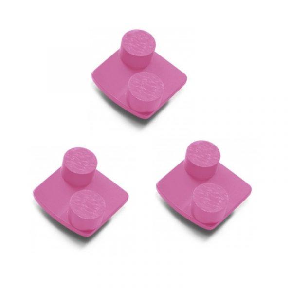 Photo of Husqvarna Redi Lock® 100-Grit Double Segments – Pink (3-Pack)
