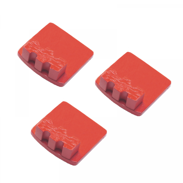 Photo of Husqvarna Redi Lock® 20-Grit Single Segments – Red (3-Pack)