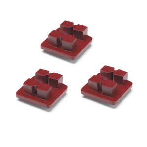 Photo of Husqvarna Redi Lock® 30-Grit Double Segments – Red (3-Pack)