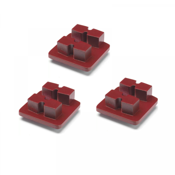 Photo of Husqvarna Redi Lock® 30-Grit Double Segments – Red (3-Pack)