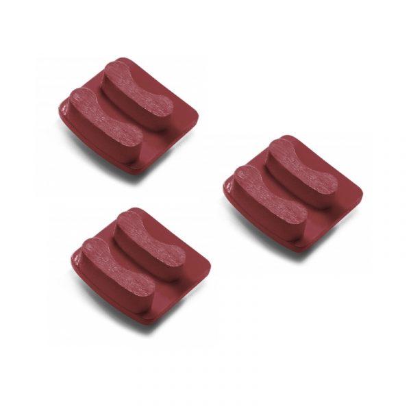 Photo of Husqvarna Redi Lock® 50-Grit Double Segments – Red (3-Pack)