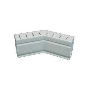 Photo of Stegmeier Deck Drain 45-Degree Corner Piece (White)