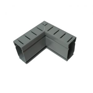 Photo of Stegmeier Deck Drain 90-Degree Corner Piece (Gray)
