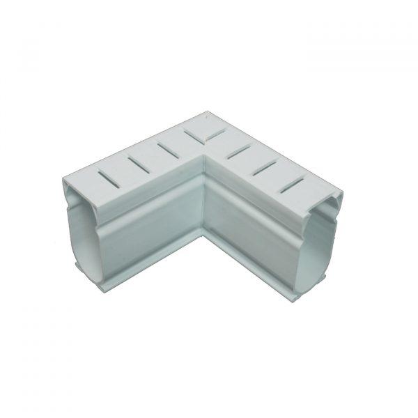Photo of Stegmeier Deck Drain 90-Degree Corner Piece (White)